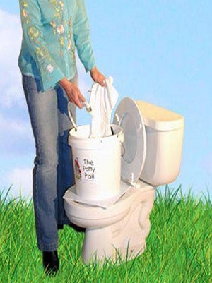 Potty Pail Splash Guard